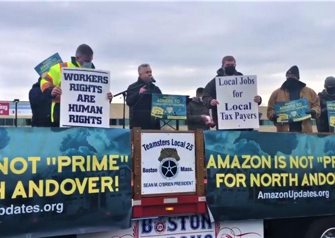Unions Protest Amazon