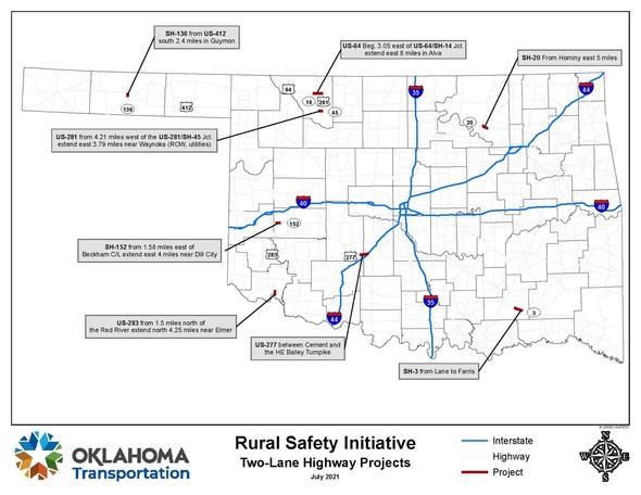 Oklahoma rural highways